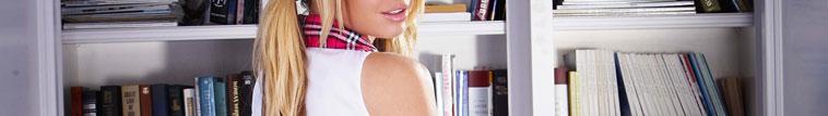 美国皮条客HUSTLER性感学生妹 白色 情趣内衣制服诱惑